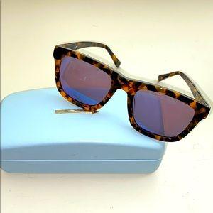 Karen Walker Deep Freeze Crazy Tort Sunglasses